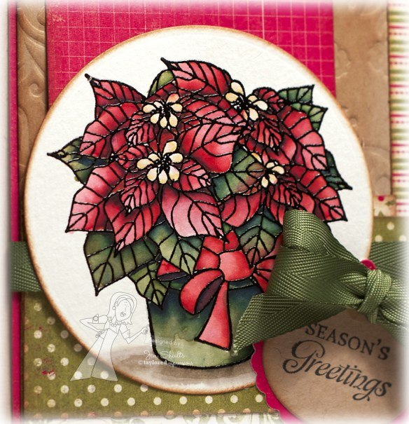 Seasons Greetings, handmade card by Jen Shults