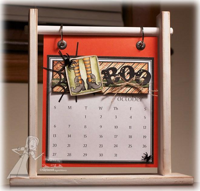 October 2013 handmade calendar
