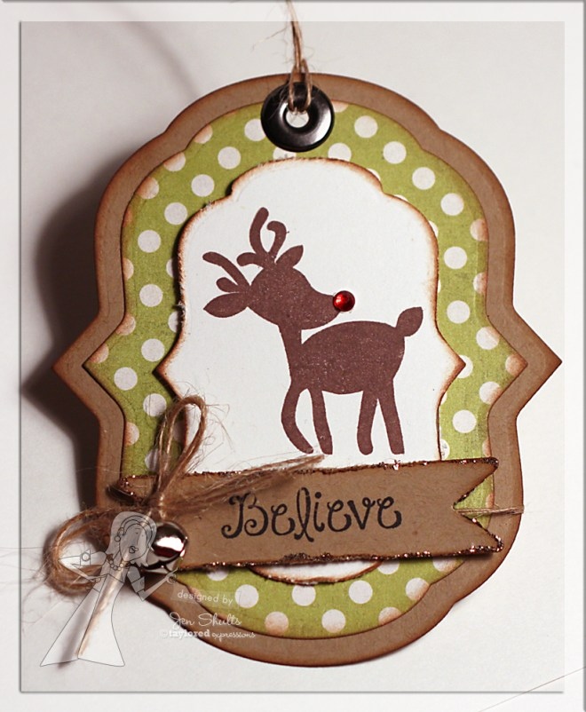 Believe Christmas Tag by Jen Shults