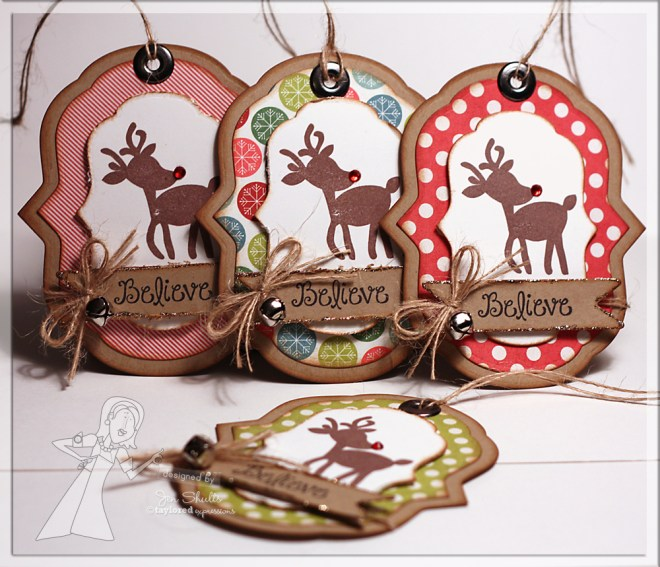 Christams tags by Jen Shults