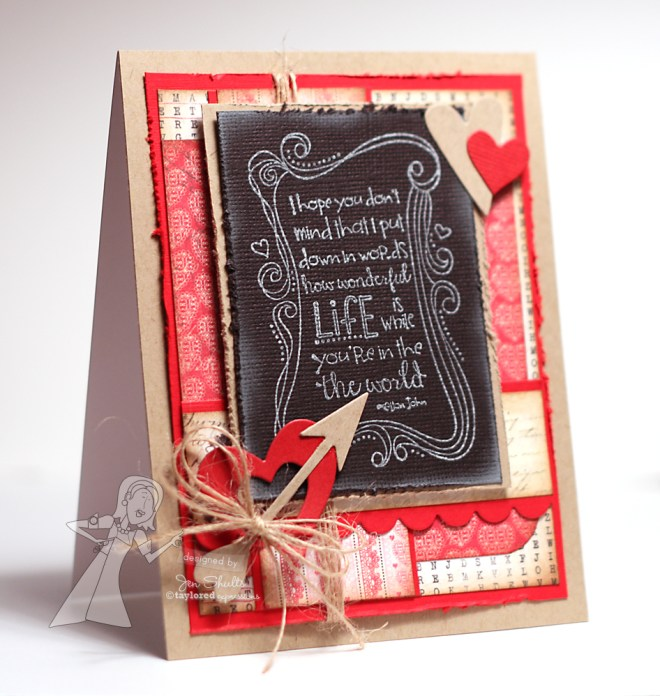 How Wonderful Life Is, handmade card by Jen Shults