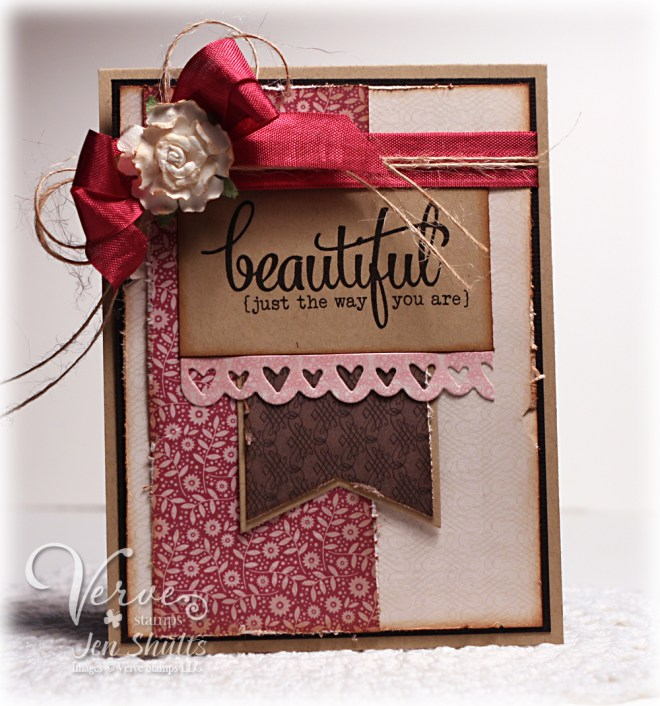 Beautiful Just The Way You Are by Jen Shults for Verve Stamps