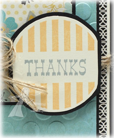 Thanks by Jen Shults, stamps by Taylored Expressions