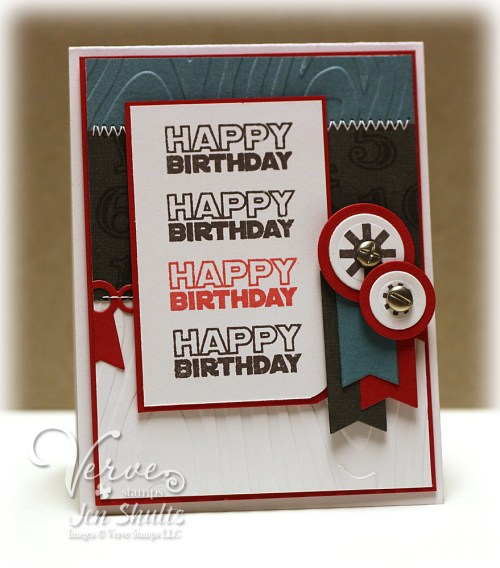 Happy Birthday by Jen Shults, Verve Stamps
