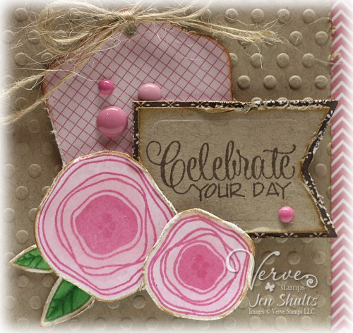 Celebrate Your Day by Jen Shults, stamps by Verve Stamps