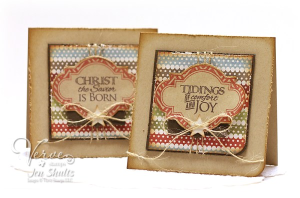 DS127 Christmas Card set by Jen Shults, stamps from Verve Stamps