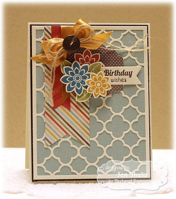 Birthday Wishes by Jen Shults, Stamps and dies from Taylored Expressions
