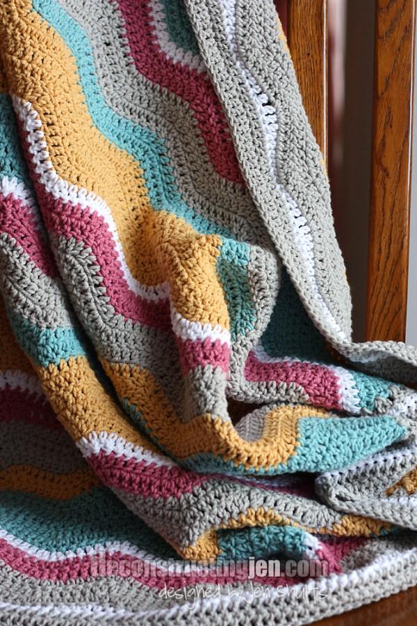 baby ripple crochet blanket