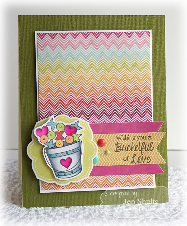 Bucketful of Love, handmade card