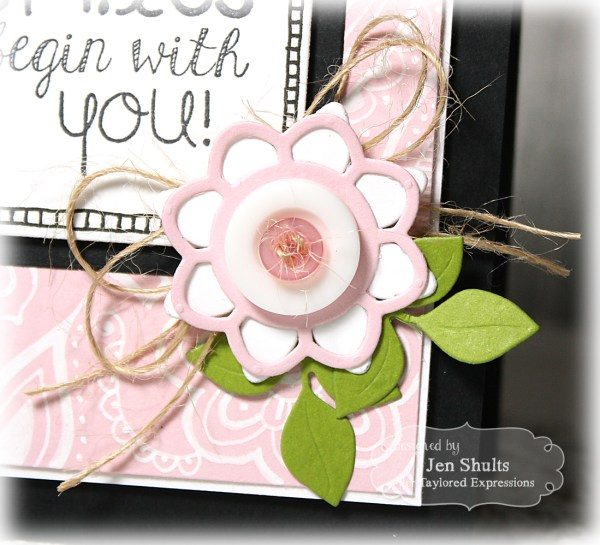 Smiles by Jen Shults, stamps from Taylored Expressions
