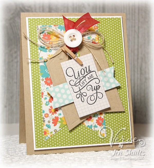 You Lift Me Up by Jen Shults using Verve Stamps