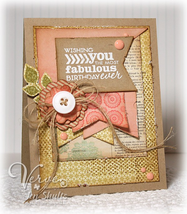 Fabulous Birthday by Jen Shults, stamps from Verve Stamps