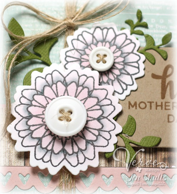 Happy Mother's Day by Jen Shults, Stamps and dies from Verve Stamps