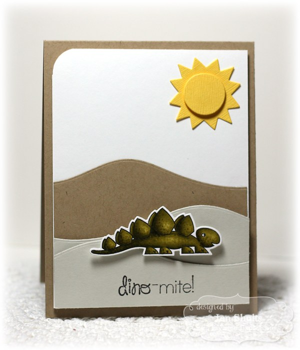 Dino-Mite by Jen Shults, stamps and dies by Taylored Expressions