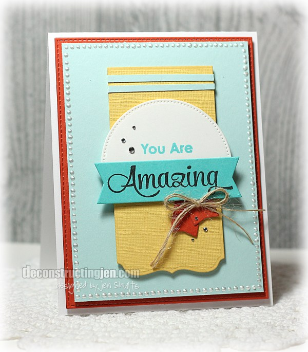 You are Amazing! by Jen Shults, stamps and dies from MFT