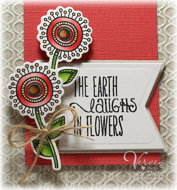 Laughs in Flowers by Jen Shults, stamps and dies from Verve Stamps