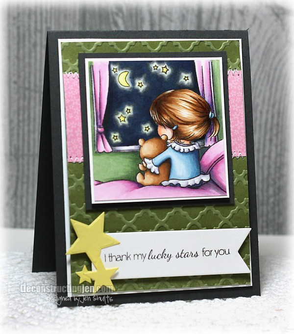 Thank My Lucky Stars by Jen Shults, stamps from Sugar Pea Designs