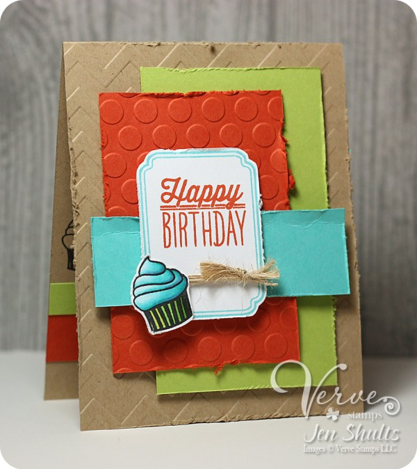Happy Birthday his and hers set by Jen Shults using Small Packages from Verve Stamps releaseing 8/30/14.