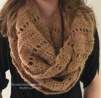 Textured Crochet Infinity Scarf Pattern