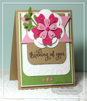 Thinking of You by Jen Shults, handmade card