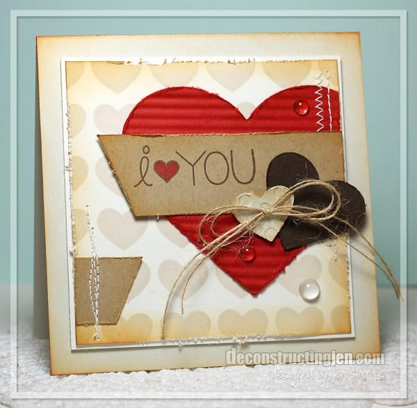 I <3 You by Jen Shults, handmade card #7DaysOfLove