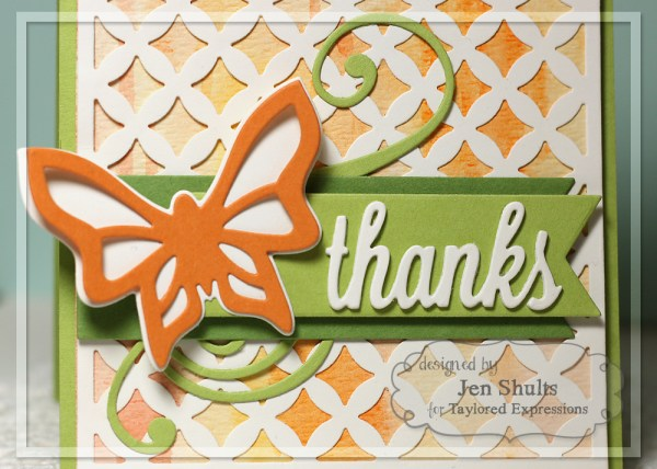 Thanks, by Jen Shults, handmade card