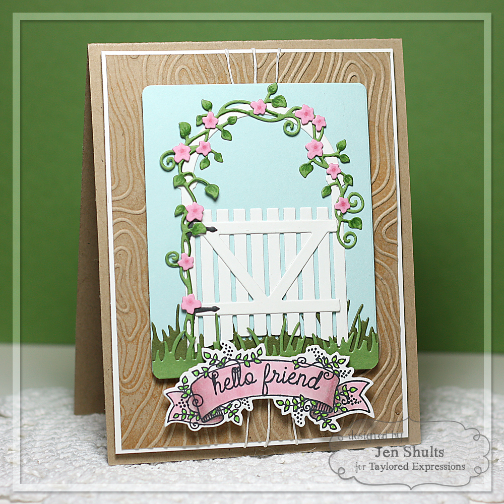 Taylored Expressions March Sneak Peeks: Frame in Frame Cutting Plate and Arbor Gate