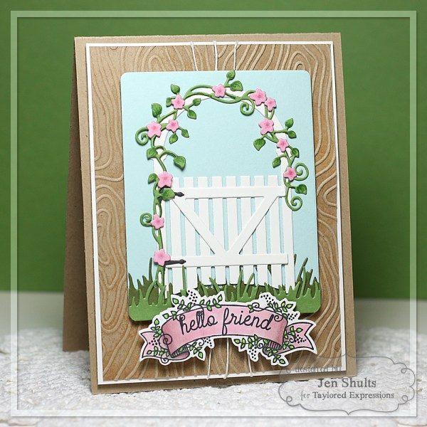 Hello Friend by Jen Shults, handmade card