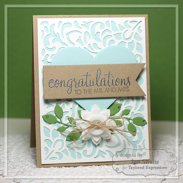 Congratulations by Jen Shults, handmade card