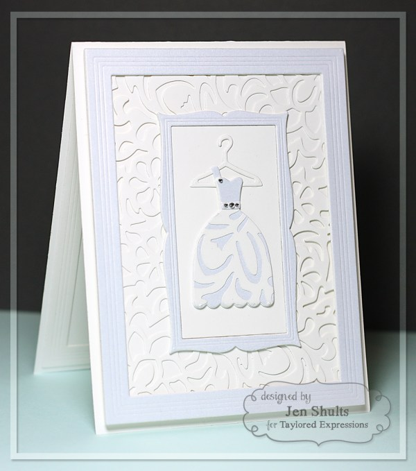 The Dress by Jen Shults, handmade card