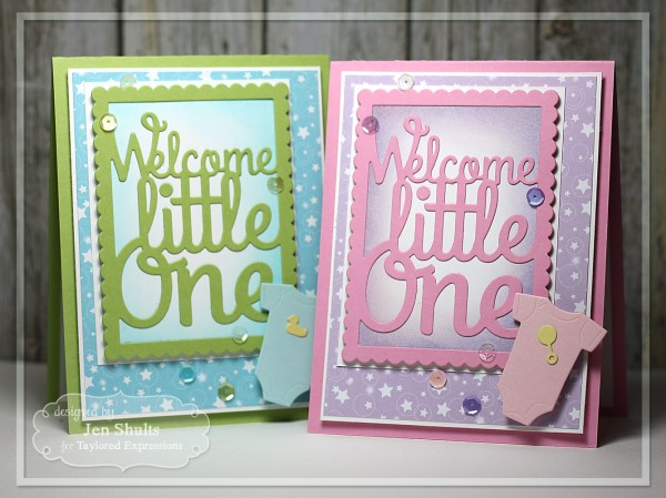 Welcome Little One card set by Jen Shults