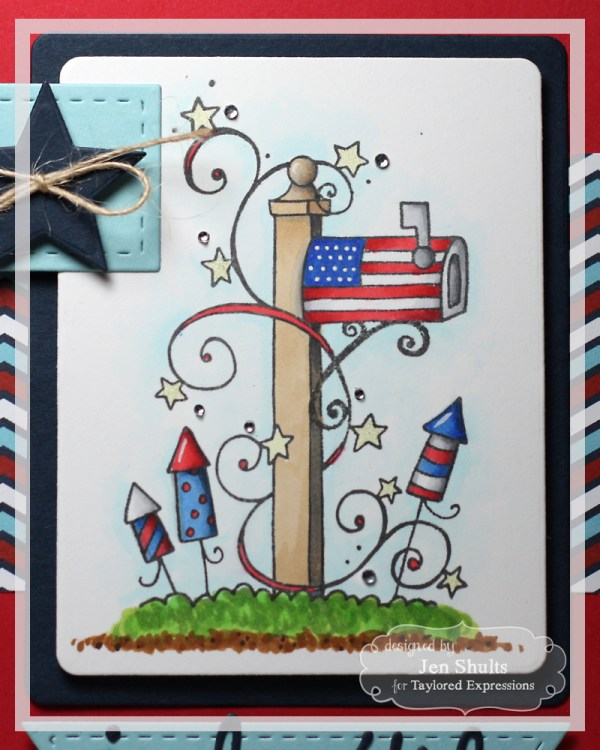 July 4th by Jen Shults using You've Got Mail Patriotic from Taylored Expressions