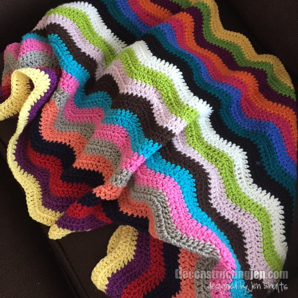 Ripple crochet blanket by Jen Shults, pattern from Attic24