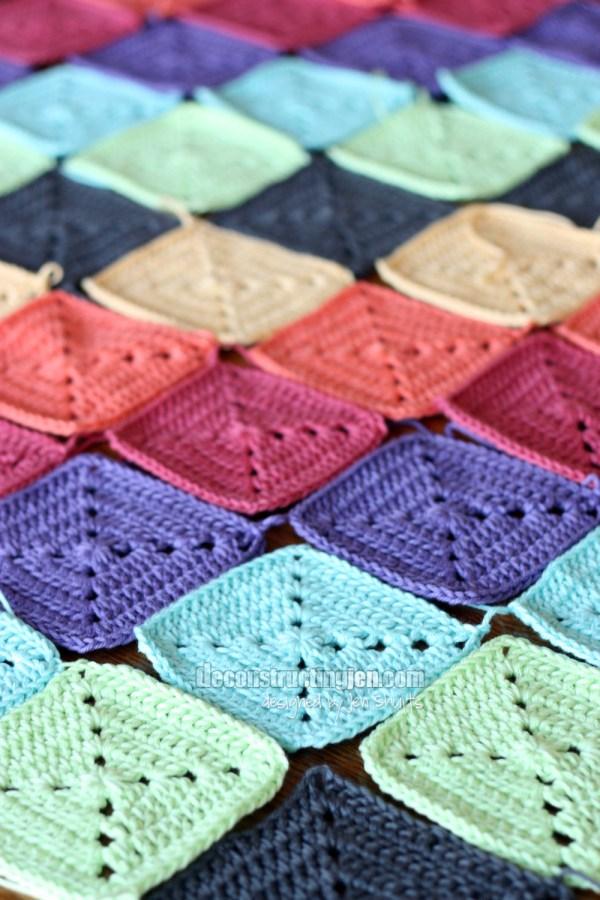 Granny Square blanket by Jen Shults