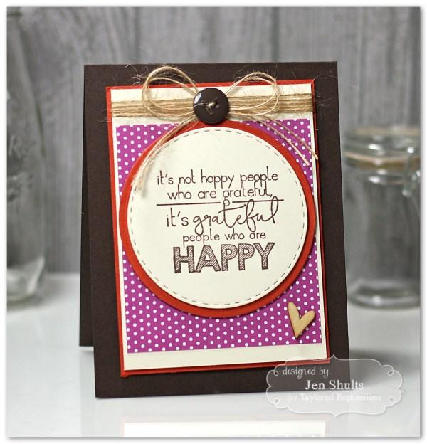 Gratitude = Happy by Jen Shults