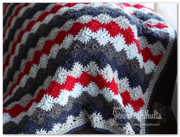 Harlequin Crochet Baby Blanket Deconstructing Jen