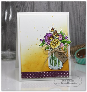 Wildflower Bouquet Card Gift Set by Jen Shults