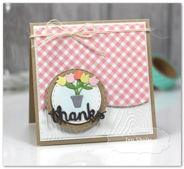 Thanks, handmade card using Taylored Expressions dies