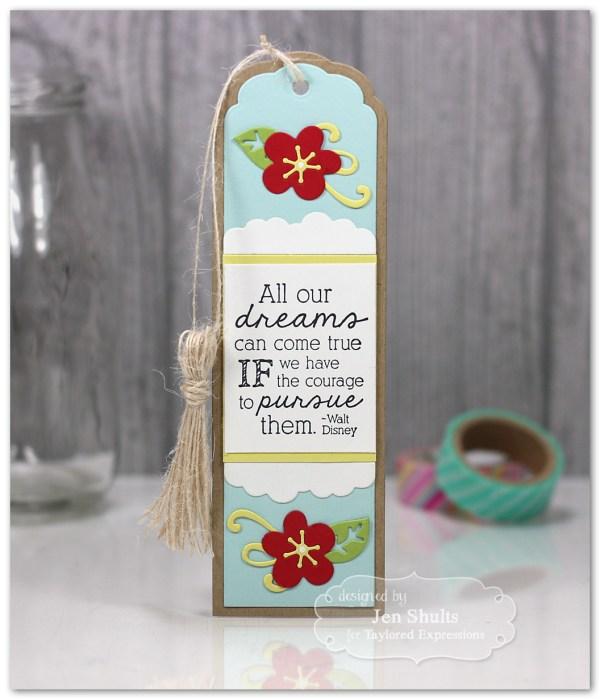 Dreams Can Come True handmade bookmark