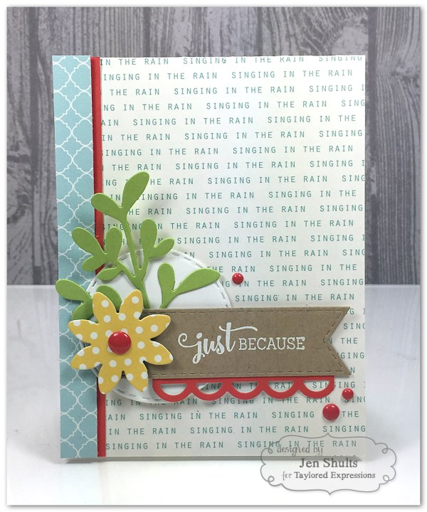 Just Because by Jen Shults, handmade card