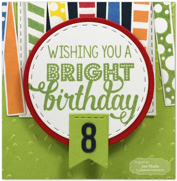 Bright Birthday, handmade card by Jen Shults