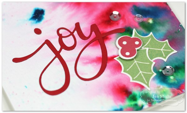 Joy, handmade card by Jen Shults