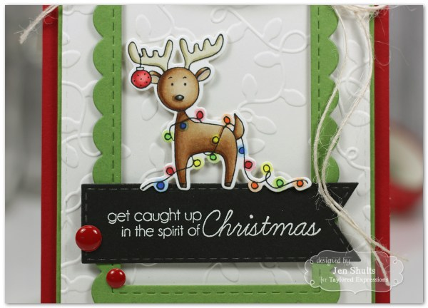 Spirit of Christmas by Jen Shults, handmade Christmas card