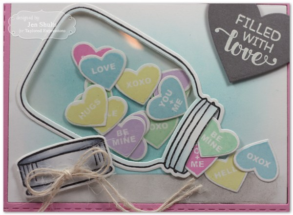 Filled with Love card by Jen Shults