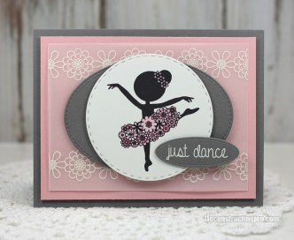 Just Dance, handmade card by Jen Shults