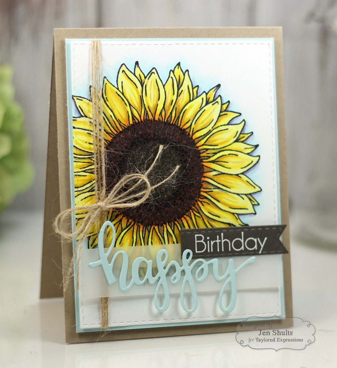 TE Sneak Peeks: Big Blooms Sunflowers and With Sympathy Cutting Plate