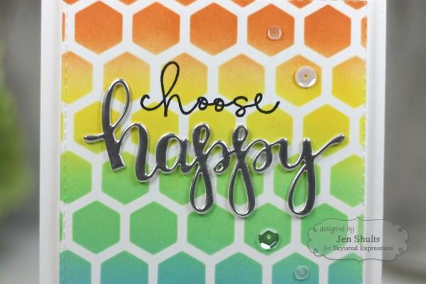 Choose Happy by Jen Shults, handmade card
