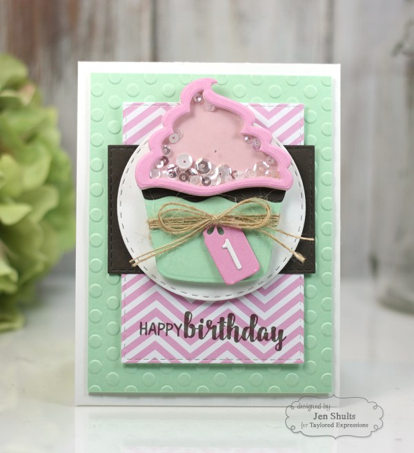 Happy 1st Birthday by Jen Shults, handmade card