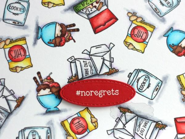 #noregrets handmade card by Jen shults