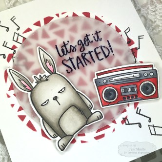 Let's Get It Started, handmade card by Jen Shults